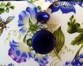 Blue floral jewelry box, trinkets box, jewelry storage box