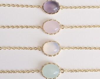 Opal Bracelets | White Opal Bracelet | Birthstone Bracelet | October Birthstone | Gold Personalized Bracelet | Gift For Her