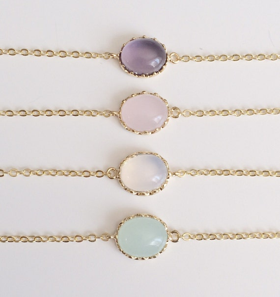 Opal Bracelets | White Opal Bracelet | Birthstone Bracelet | October Birthstone | Gold Personalized Bracelet | Gift For Her