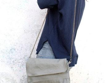 Summer SALE, Leather Beige Clutch & Crossbody Bag, Beige Clutch Purse, Women Leather wallet, Evening Clutch, Leather Handbag Purse, leather
