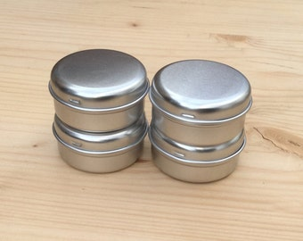 round metal tins, 15ml tin box in silver color, lip balm box, diy container (a set of 100 boxes)