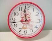 Vintage Strawberry Shortcake Wall Clock