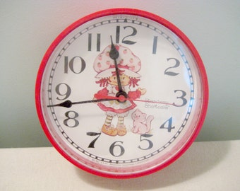Vintage Strawberry Shortcake Wall Clock