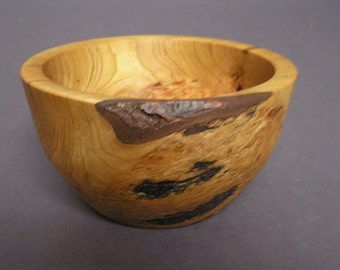 Wild cherry burl bowl