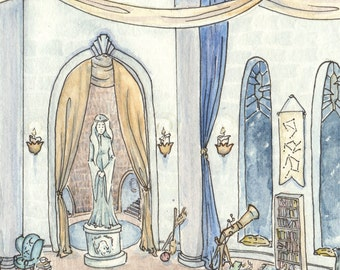 "Harry Potter Fan Art - ""Where Those of Wit and Learning"" (Ravenclaw Common Room)"