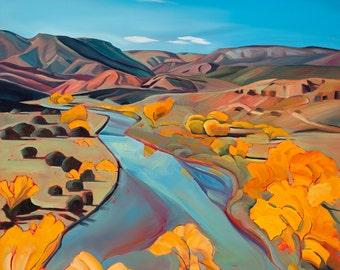 "The Chama River 10""x10"" giclee print"