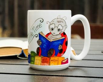 So Many Books, So Little Time - funny coffee mug, colorful mug, book lover mug
