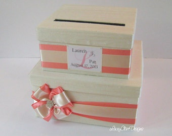 Wedding Card Box, Money Box, Gift Card Holder, Wishing Well Box - Custom Made to Order