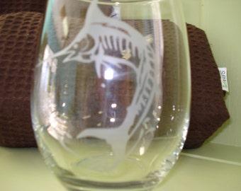 Marlin Drinking Glass