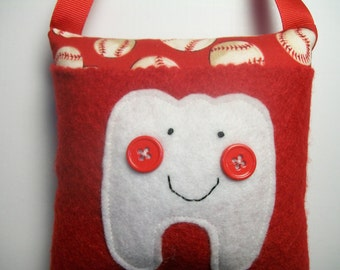 Tooth Fairy Pillow Boys Baseball tooth pillow, hanging pillow, toothfairy