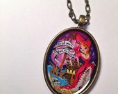Pirate - hand painted pendant