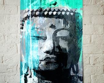 Buddha - Art Print - Buddha Decor, Zen Art, Meditation room decor, Beach Cottage Decor, Buddha Art, Buddha painting, boho art, Zen decor