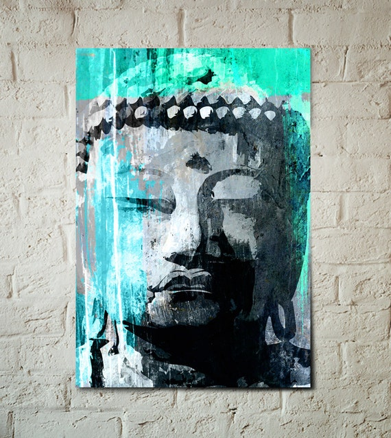 Buddha, Art Print, Zen Home Decor, Poster size Buddha Art, Yoga Studio Art, House Warming Gift, Zen Art, Zen office art