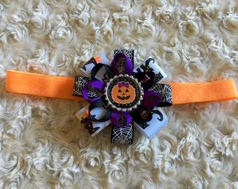 Halloween pumpkin infant baby headband