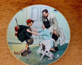 Norman Rockwell Home from Camp limited edition collector's plate 1990