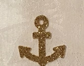 Confetti, 100 ct Glitter Anchor Confetti Party Decor Table Decorations, MANY COLORS AVAILABLE