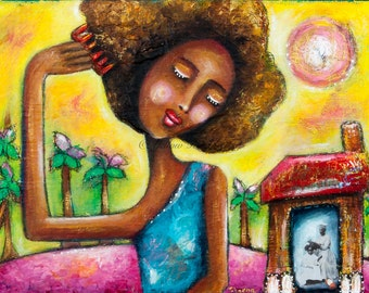 DETANGLE YOUR ROOTS Original Mixed Media Painting