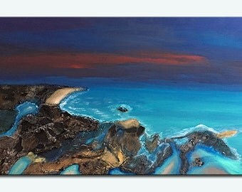 Drift Away  3D Private Island Original Landscape painting By DanielBrunosArts