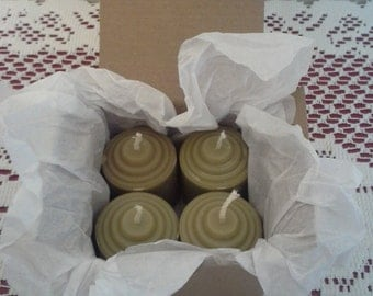 Authentic Handmade BAYBERRY Candles - votive box of 4