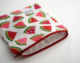 Reusable Snack Bag, Zipper Pouch, Reusable Sandwich Bag, Handmade, Ready to Ship
