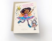 Afro Fairy, Multicultural Cards, African American Cards, Black Girl, Asian Girl, Thinking of You Cards, Birthday Card for Boys, For Girls