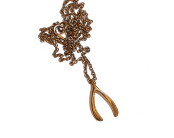 Vintage Sterling Silver 925 Wishbone Necklace