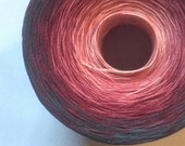 Color Change Gradient Yarn - rockin' raspberry - Moca Cotton Yarn - 4 colors  - fingering weight - cotton - you pick the size
