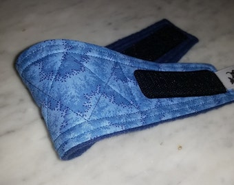 Belly Band Waist 09.25 x Width 2.75 inches Male Dog Wrap Diaper Belt by SewDog 3 Layers Quilted Padded Wrap #26 BLUE