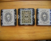 ALL NEW Day of the Dead One of a Kind Sugar Skull Coasters with Box