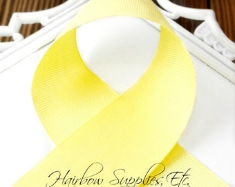 Lemon Yellow 2-1/4 inch - Choose from 1-50 yd - Bright Yellow Grosgrain Ribbon - Hairbow Supplies, Etc.