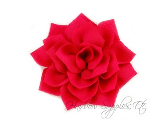 Fuchsia Lotus Flowers 3 inch - Fuchsia Fabric Flowers, Fuchsia Flower Headband Baby, Hot Pink Flower Heads, Fuchsia Headband, Fuchsia Flower