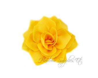 Yellow Lotus Flowers 3 inch - Yellow Fabric Flowers, Yellow Flower Headband Baby, Yellow Flower Heads, Yellow Headband, Yellow Hair Flowers