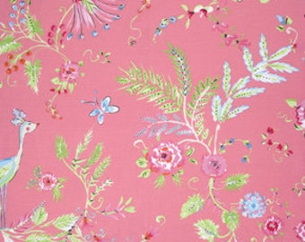 END of BOLT - 21 inch piece - Dena Designs - Birdsong in Pink - Chinoiserie Chic - cotton quilting fabric