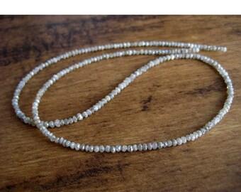 55% ON SALE Rough Diamond Bead, Faceted Diamond Beads, Raw Diamonds, Natural Diamonds, 2mm Each, 16 Inch Strand