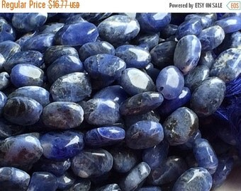50% VALENTINE SALE Sodalite Beads - Light Blue Sodalite Plain Oval Beads, Blue Sodalite Gemstones, Nugget Beads, 9x7mm 13 Inch Full Strand,