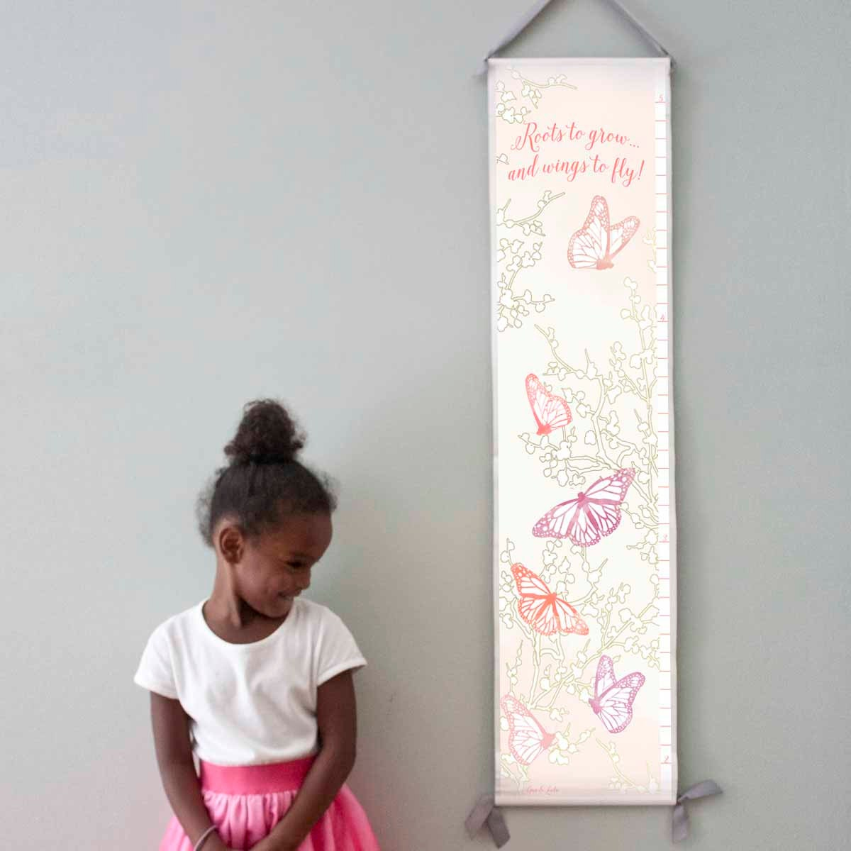 Personalized/ Custom Girls Butterfly Growth Chart - Roots to grow and wings to fly!