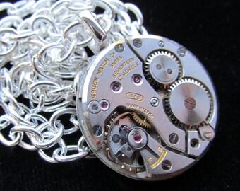 Steampunk Watch Movement Necklace Pendant A 20
