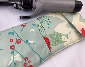Blue Curling Iron Holder - Curling Iron Case - Flat Iron Holder - Flat Iron Case - Art Gallery Rapture Dreamscape in Moon