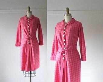 vintage 1960s dress / That Girl / pink wool dress