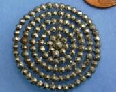 Antique Vintage Button Victorian Steel cuts Button Large Button  344
