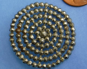 Antique Vintage Button Victorian Steel cuts Button Large Button  344