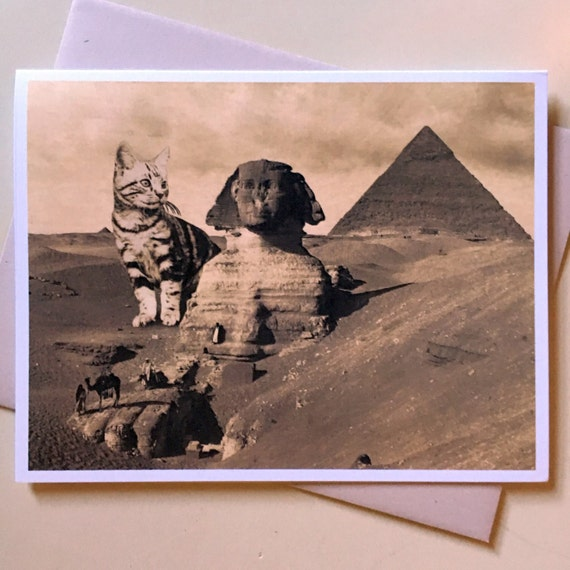 Funny Pictures About Egypt: Cat Card Egypt Cat Art Ancient Egypt Sphinx Cat Funny