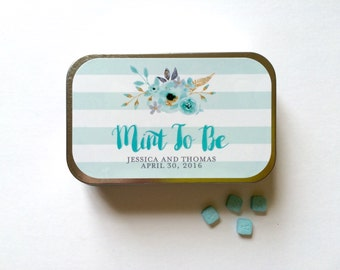 Mint to Be Favor, Mint to Be Wedding Favor, Mint to Be Sticker, Mint Tin, Wedding Sticker, Wedding Favor Sticker, Wedding Thank You Sticker