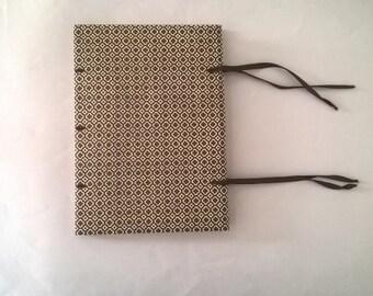limp paper journal - chocolate brown Italian