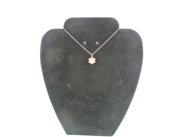 Fine silver embossed flower pendant or charm