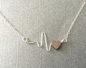 My Heart Beats for You  ECG/EKG Necklace  100% Donation to American Heart Association