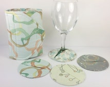 Coasters, Slipper Coaster Set with Insulated Wine Bottle Cozy Wrap