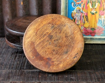 Indian Chapati Plate Weathered Vintage Hand Carved Candle Plate Wedding Prop Cloche Base Centerpiece Boho Decor Photography Prop