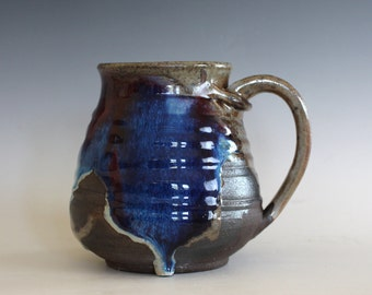LARGE 24 oz Coffee Mug, handthrown ceramic mug, stoneware pottery mug, unique coffee mug