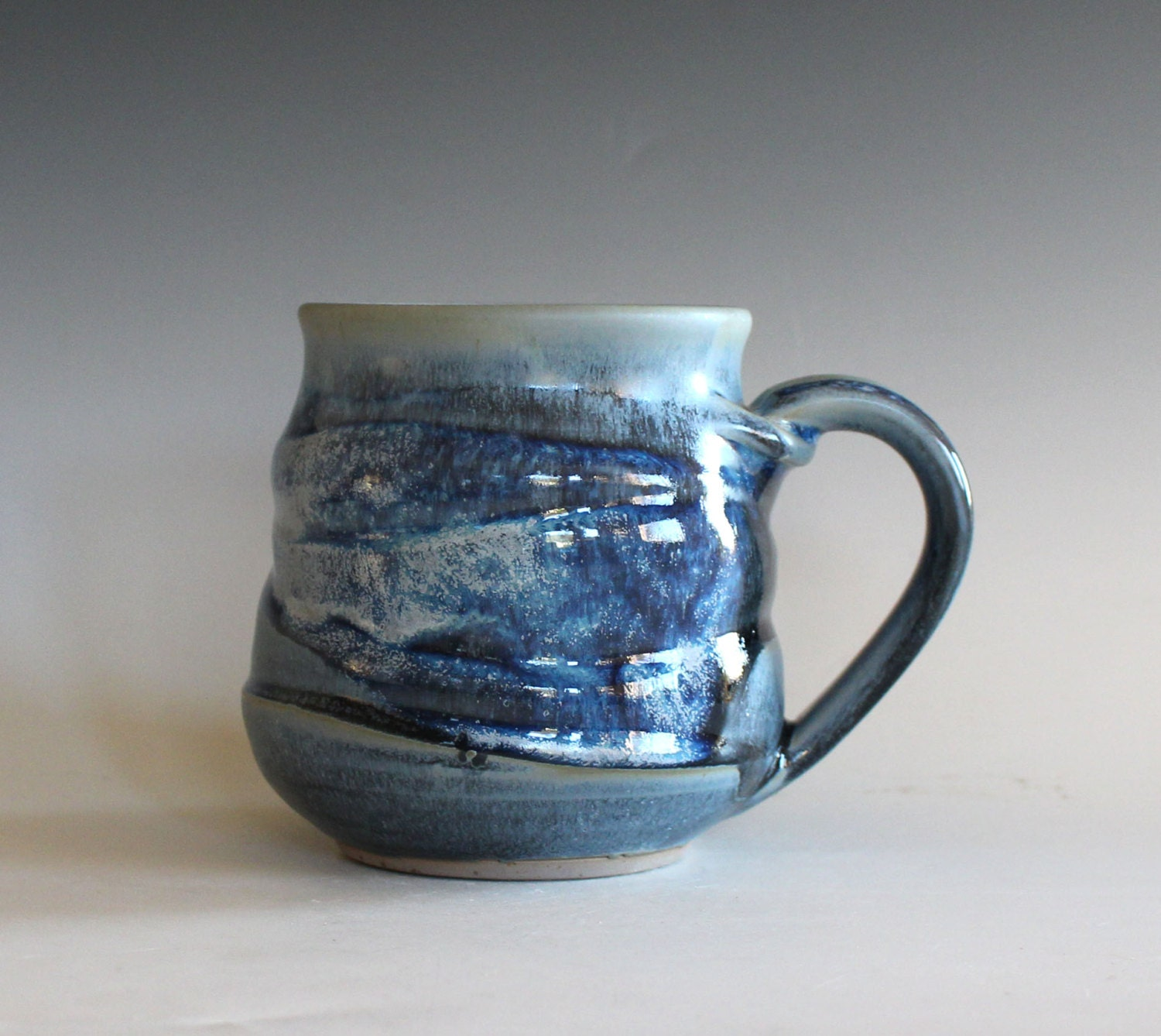 Coffee mug pottery 16 oz unique coffee mug handmade ceramic Unique coffee cups mugs